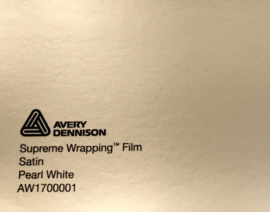 Avery SWF Wrap Satin Pearl White