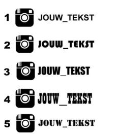 Instagram Eigen Tekst Sticker | Model 2