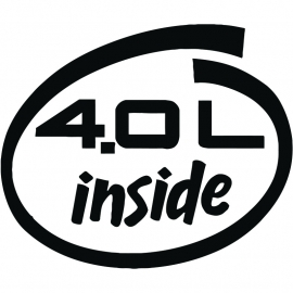 4.0L Inside  sticker
