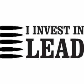 I Invest in Lead sticker
