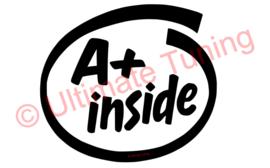 A+ Inside sticker