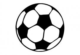 Voetbal Oranje Motief 2 sticker