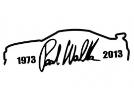 Paul Walker Nissan Skyline Sticker