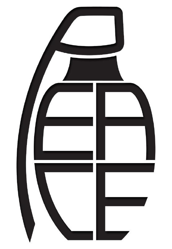 Granaat Peace Motief 3 sticker