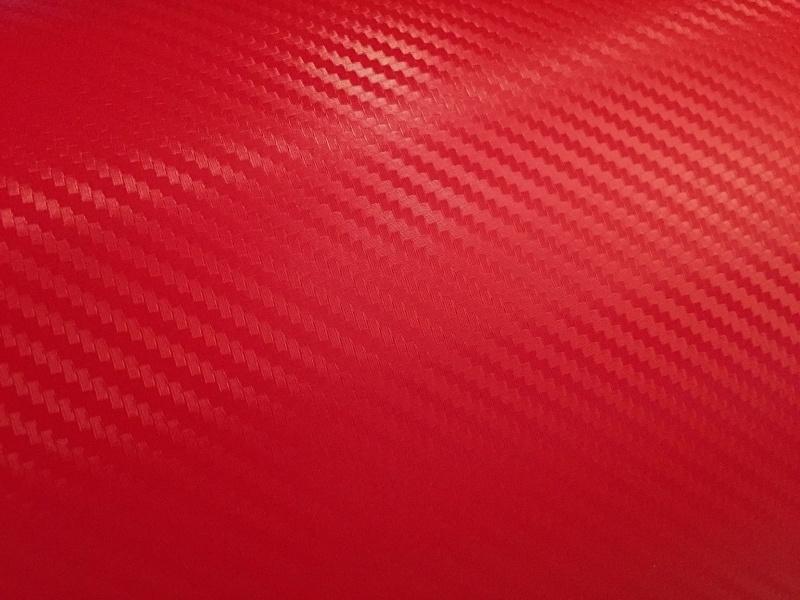 3D Carbon Folie Rosso Rood  20cm x 152cm