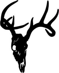Hert Kop Motief 2 sticker