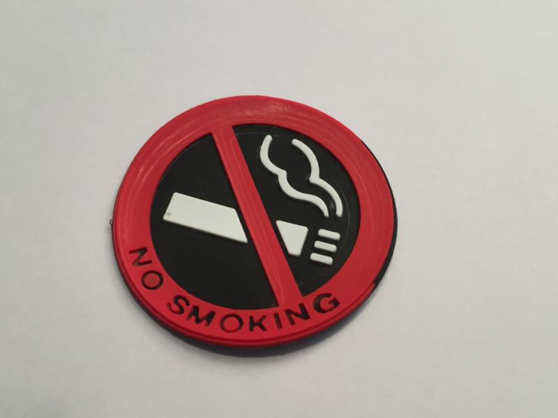 No Smoking / Niet Roken Sticker Rubber