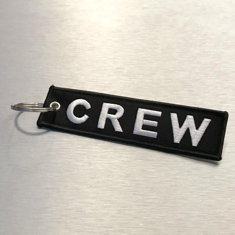 CREW Sleutelhanger Zwart
