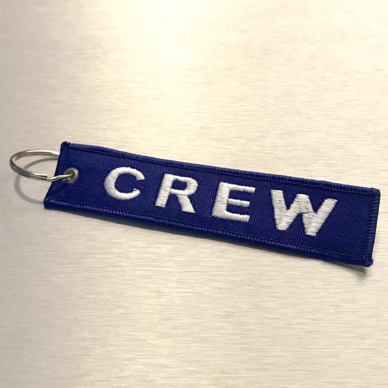 CREW Sleutelhanger Blauw