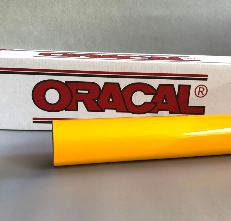 20 x 126 cm Oracal Helder Geel Tint Folie