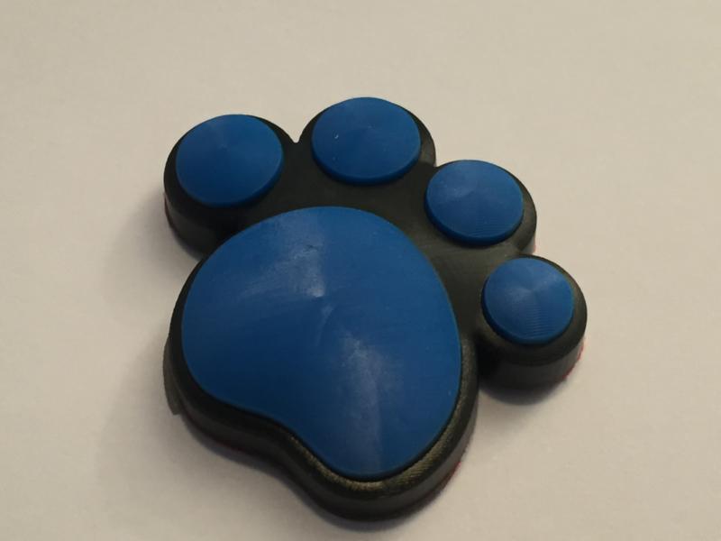 3D Honden / Katten poot Deurbeschermer Blauw   1st.