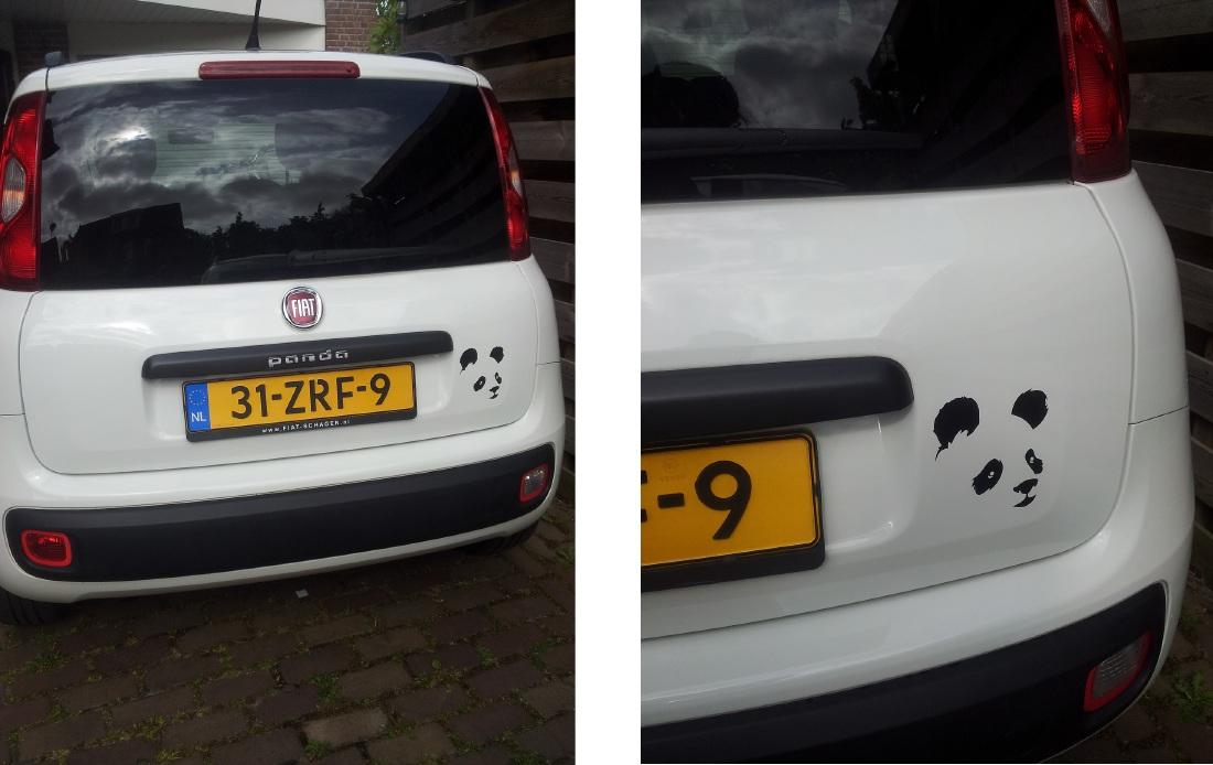 Fiat Panda Panda Sticker