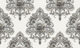 937414 La romantica creme zwart behang