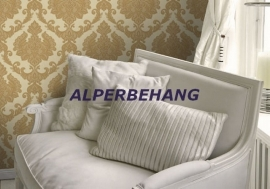 goud geel barok vinyl behang 022