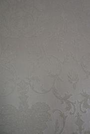wit glitter behang 53