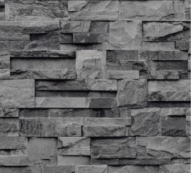 grijs zwart steen bluff vinyl behang xx89