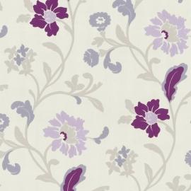Behang Expresse Jewel paars wit