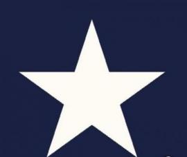 sterren behang blauw wit 114630