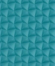 Rasch retro behang 3d blauw 504651