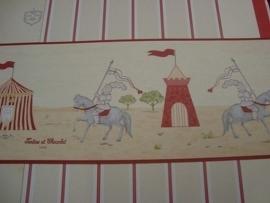 rood grijs ridder paarden ridders behangrand 85