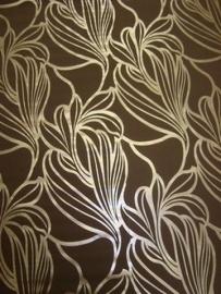 bruin goud retro vlies behang 49