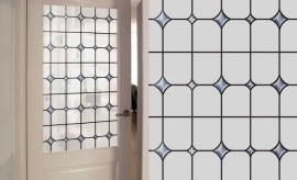 zelfklevend raam decoratie glas in lood xp31