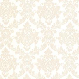 Barok behang creme beige glitter 13701-60