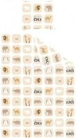 Esta For Kids Jimbo Pastel 155813 Dekbedset Junior Animals Beige