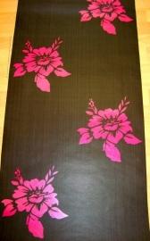bruin roze bloemen vlies behang diamonds of the paerls 23