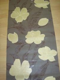 modern bloemen vlies behang goud bruin 103