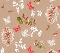 bloemen vlinders tafelzeil 387202