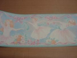 roze blauw lief stijlvol balarina behangrand 13