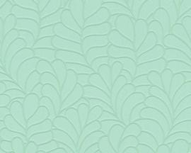 mintgroen bladeren behang 357113
