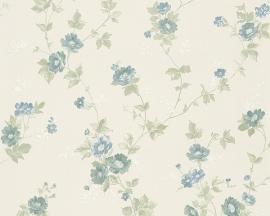 Behang Bloemen wit blauw AS Romantica 30428-2