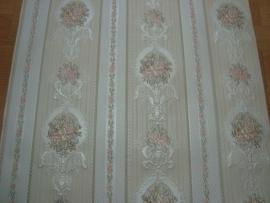 Engelse roosjes creme roze bloemen behang 5