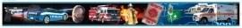 Dutch zelklevende behangrand 100 Politie - Brandweer - Ambulance auto