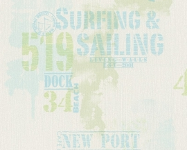 Living Walls Surfing & Sailing behang 9270-26 groen blauw
