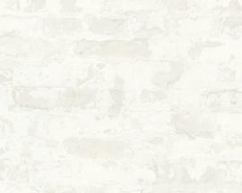 Steen behang verouderd lijkt net gemetseld trendy behang van deze tijd 36929-4