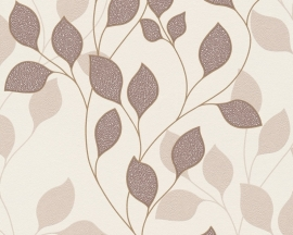 as creation mila 939672 beige bruin modern bloemen behang