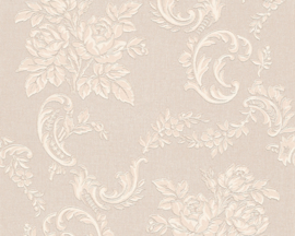 Bloemen behang glitter 33867-2