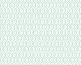 Retro behang groen 35819-3