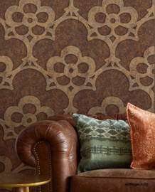 Eijffinger Sundari Wallpower 375203 Arabesque copper