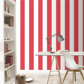 Rood strepen behang 286915