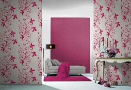 bloemen behang roze creme 98