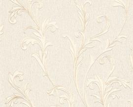 behang glitter creme goud barok 32476-4