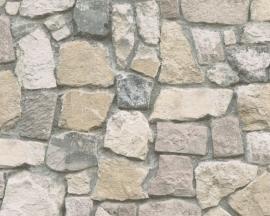 6924-12 Decora natur 5 behang gestapelde stenen muur