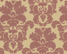 Barok behang rood goud  95937-6