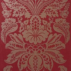 rood goud barok behang glitter xx589