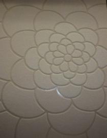 modern bloemen vlies crmee beige glim behang 91
