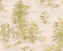 Behang natuur creme goud AS Romantica 30429-3